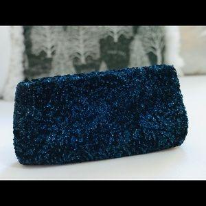 Vintage Josef Clutch Beaded in FRANCE BLUE